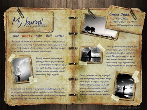 design journal journals web layout designs 60 must have tutorials designrfix com