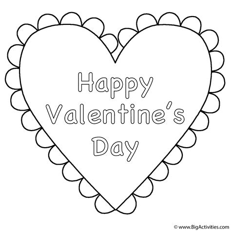 heart happy valentine s day coloring page valentine s