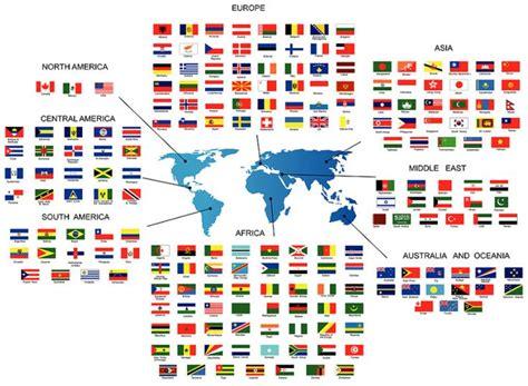 Kaos One Flag School Creative Media les drapeaux du monde par continents scout olympic
