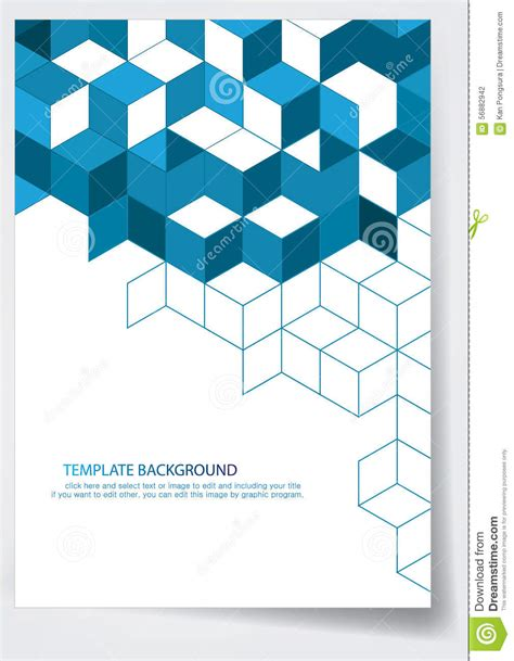 Template Report Cover Design Stock Vector Illustration Of Brochure Information 56882942 Cover Template Free