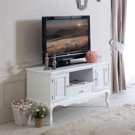 ornate living room furniture white wood tv media unit cabinet shabby chic ornate living room furniture ebay