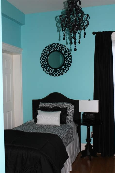 teal black and white bedroom s room