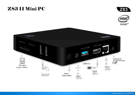 mini pc z83ii mini pc tv box 2g 32g windows 10 intel atom
