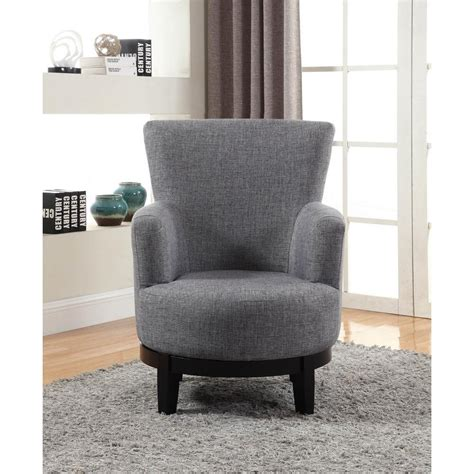 Gray Swivel Chair - grey swivel accent chair 90019 27gy the home depot