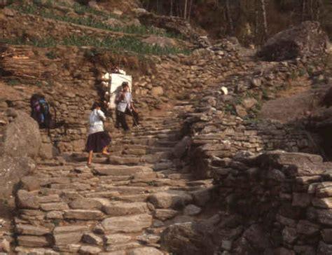 Staircases birethanti trekking in nepal annapurna