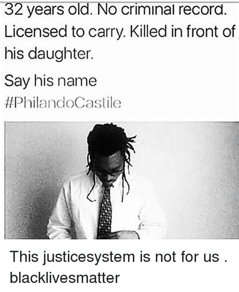 Castile Criminal Record 32 Years No Criminal Record Licensed To Carry Killed In Front Of His Say
