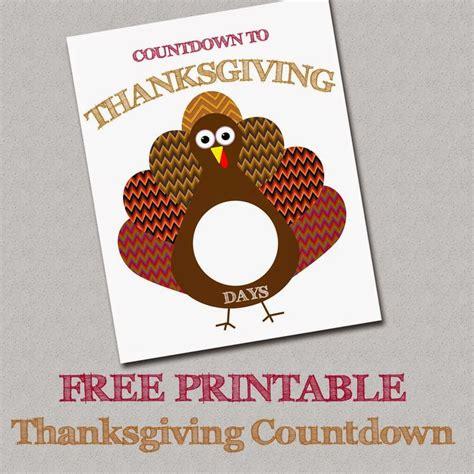 free printable thanksgiving countdown everything