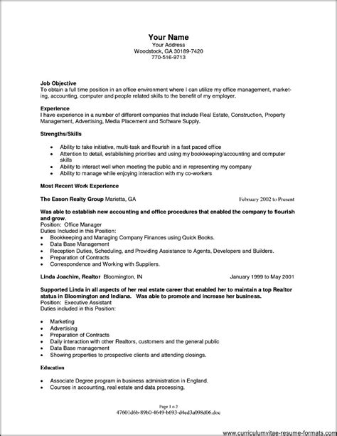 Resume Career Objective Management resume objectives for office manager free sles