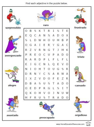 adjectives for kindergarten worksheets english teaching