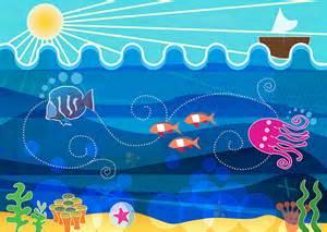 doodle 4 underwater childrens illustration