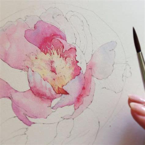 watercolor tutorial peony 1613 best watercolor flowers images on pinterest