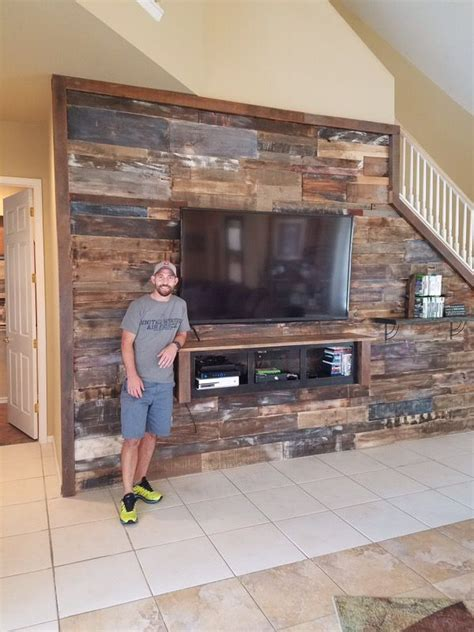 distressed wood accent wall transform your house with reclaimed wood accent wall barn