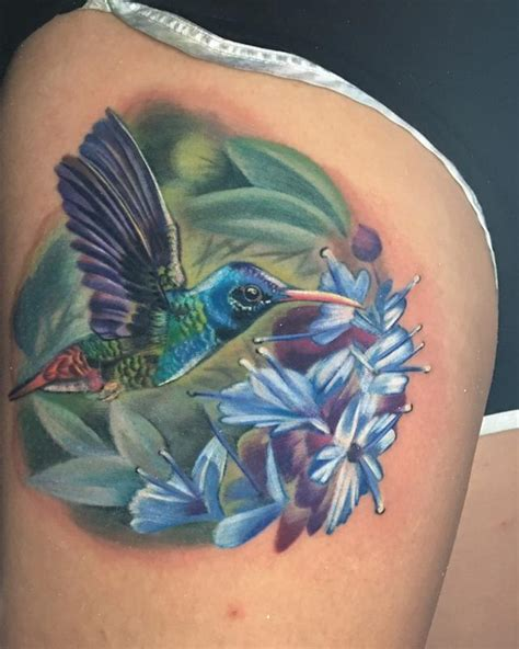 color realism color realism hummingbird by locket tattoonow