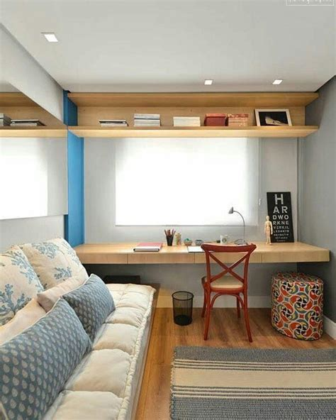 escritorio quarto de hospedes 90 ideias para montar um quarto de h 243 spedes bonito e funcional