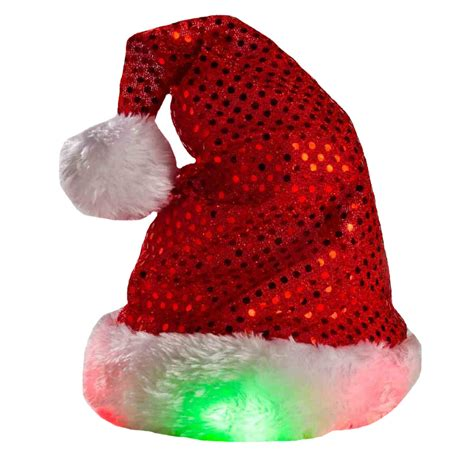 kyjen holiday led santa hat medium entirelypets