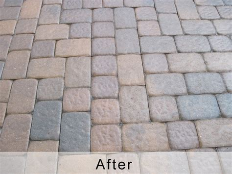 Before And After Gallery Paver Images Pavers Cleaned And How To Seal Patio Pavers
