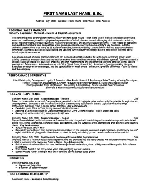 Resume Sles For Sales Director Regional Sales Manager Resume Template Premium Resume Sles Exle