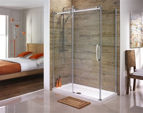 shower enclosures for small bathrooms orca frameless sliding shower doors from serene bathrooms