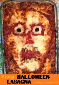 Main Dish Potluck Ideas - the right on mom vegan mom blog halloween lasagnas skull and scary face