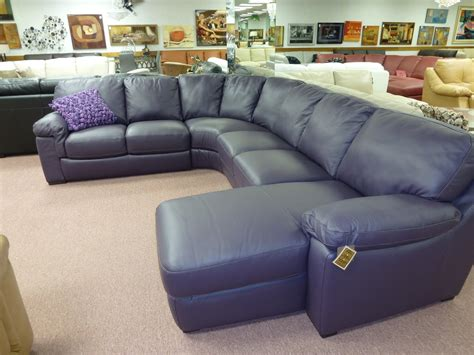 Purple Leather Sectional by Natuzzi Leather Sofas Sectionals By Interior Concepts