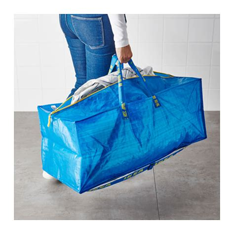 frakta trunk for trolley blue 76 l ikea