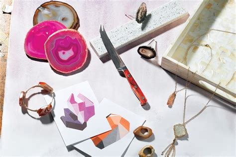 cynthia rowley agate drawer pulls rock on with mineral inspired accessories rhode island