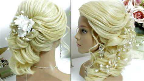 Wedding Hairstyles Hair To The Side by Bridal Prom Hairstyle For Hair Tutorial Side Swept