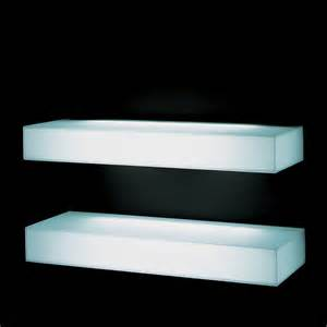 glas italia light light wall shelf modern display and