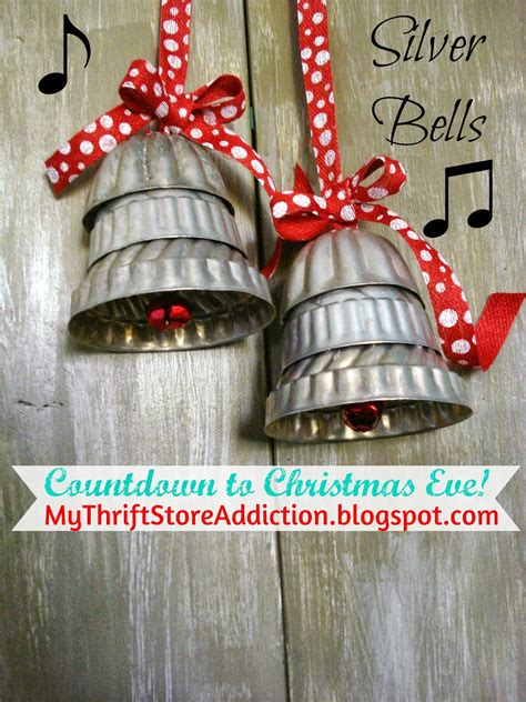 diy giant christmas bells my thrift store addiction countdown to silver bells