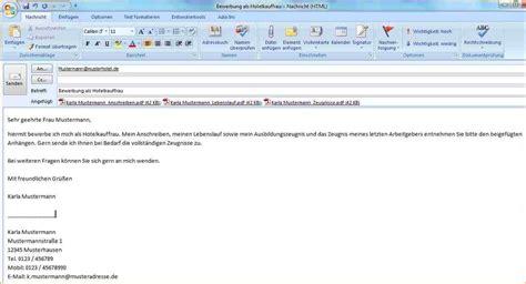 E Mail Brief Beispiel 6 e mail bewerbung muster deckblatt bewerbung