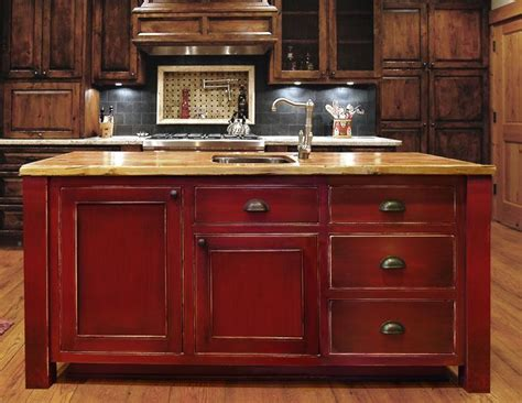 distressed wood kitchen cabinets best 25 red kitchen cabinets ideas on pinterest red