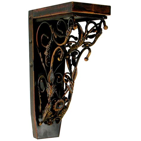 Metal Corbels jka home jcor3 4 quot w x 7 3 4 quot d x 13 quot h baroque rosette corbel in bronze loads up to 110lbs