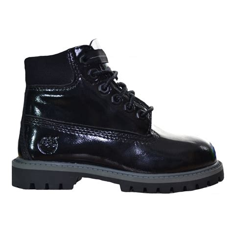 timberland boots for black timberland black patent 6 inch boots