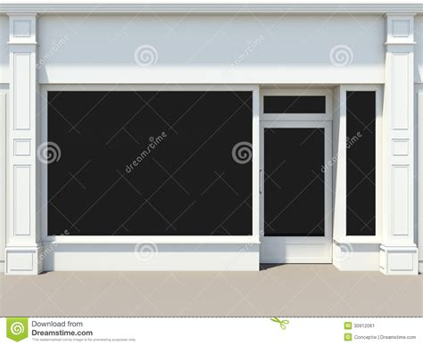 shop front template white shopfront stock illustration image of shop wall