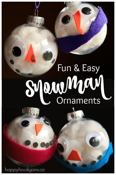 christmas ornament project for pre k easy adorable snowman ornament for to make happy hooligans