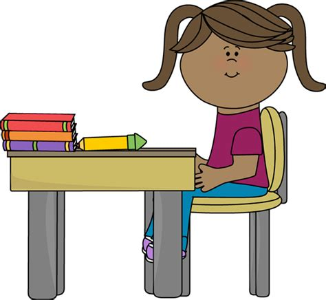 Black Student At Desk Clipart Clipart Panda Free Student In Desk Clipart