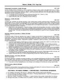 Finance Executive Sle Resume by Finance Executive Resume Sles
