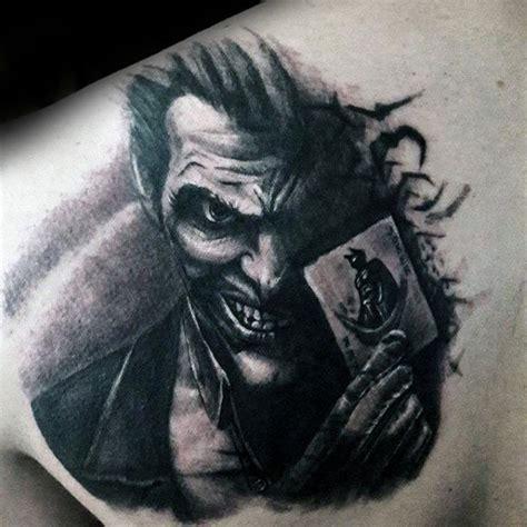 joker tattoo on back 90 joker tattoos for men iconic villain design ideas