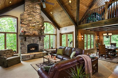 Log Home Living Rooms by Awesome Log Homes 20 Photos The Home Touches