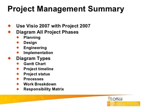 how to use visio 2007 how to use visio for project management