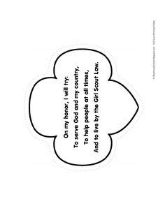 I Am Girl Scouts Girl Scout Promise Amp Law Printable