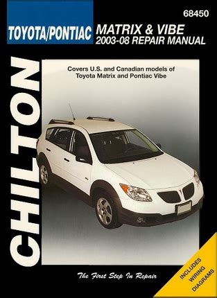 old car owners manuals 2008 pontiac vibe electronic toll collection toyota matrix pontiac vibe repair manual 2003 2008 chilton 68450