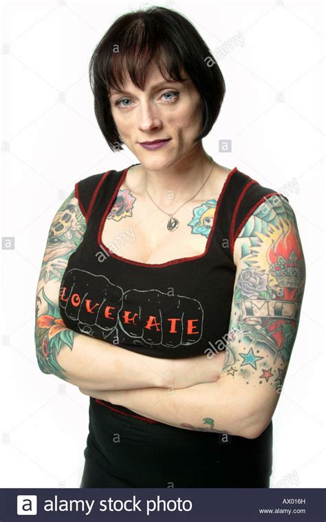heavily tattooed women heavily tattooed wearing a quot quot t shirt