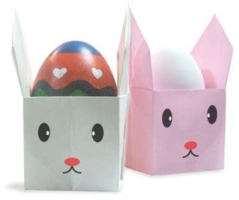 Origami Egg Holder - origami rabbit egg stand