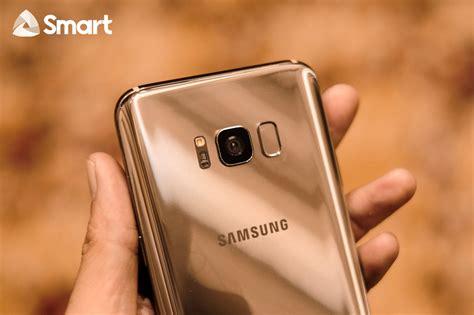 Samsung S8 Mapple Gold Garansi Sein Like New look the samsung galaxy s8 and s8