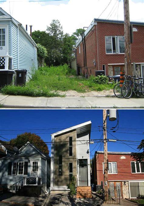 Narrow Lot Modern Infill House Plans Narrow Modern Infill Tiny House Huntto