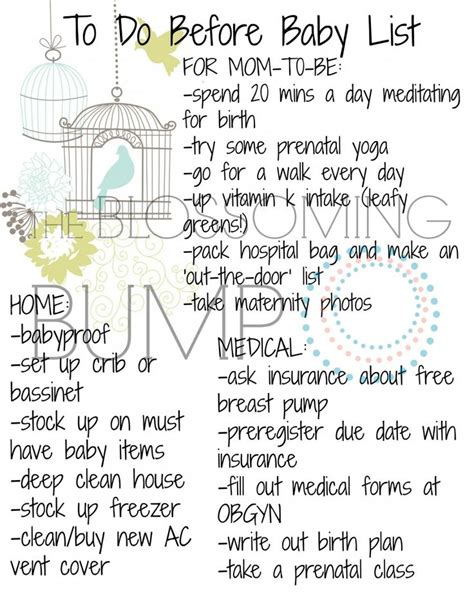printable pregnancy to do list 840 best images about baby stuff for the baby i dont have