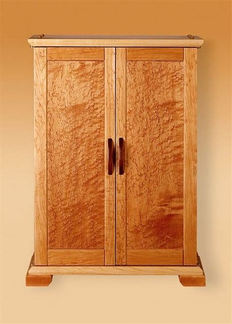 birdseye maple armoire hand crafted birds eye maple jewelry cabinet by woodworks