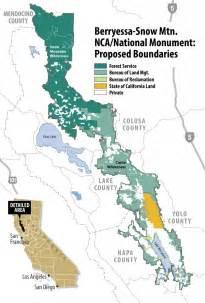 california mountain region map berryessa snow mountain becomes california s newest