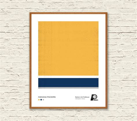 indiana pacers colors indiana pacers pantone minimalist poster downloadable